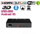Yi-601 Newest Model Mini Projector Home Use Bluetooth Beamer Built-in Android and WiFi System Hot Sell DLP Projector