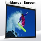 100 Inch Wall Mount Office Projector Matte White manual  Projection Screen